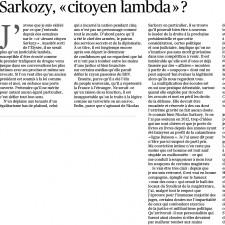 tribune Ferry Sarkozy citoyen lambda